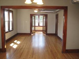 Unfurnished, with nice floors.