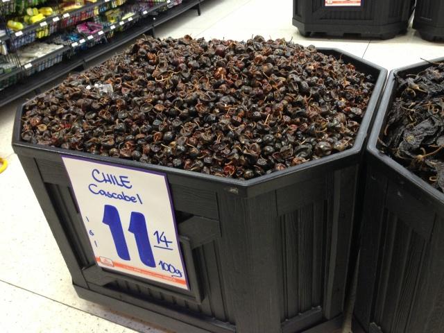 Huge bins of chiles