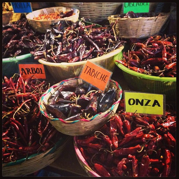 So many varieties of chiles!