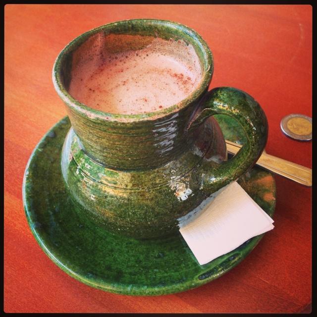 Oaxacan hot chocolate (very good!)