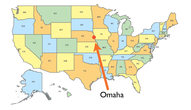 Location of Omaha