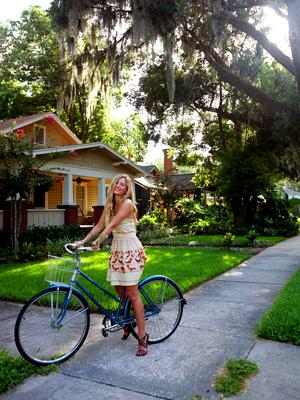 A walkable, bike-able neighborhood in Florida.