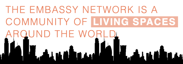The Embassy Network is a community of living spaces around the world.