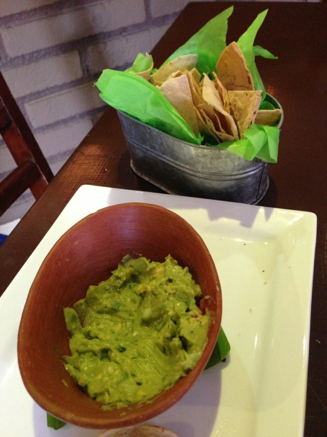 Very fresh guacamole