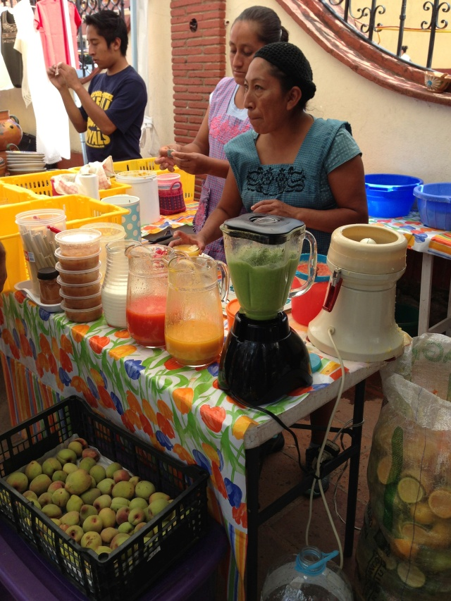 Lovely, fresh juices at Pochote market