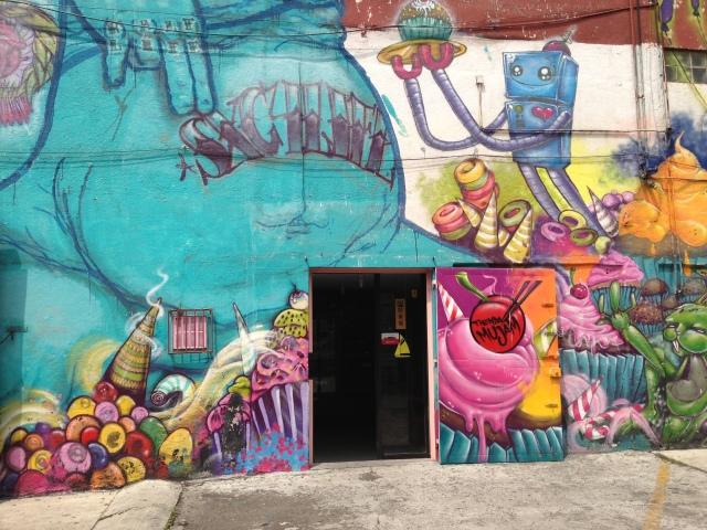 Urban art entrance