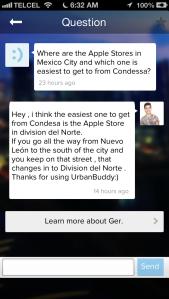 Urban Buddy iPhone app