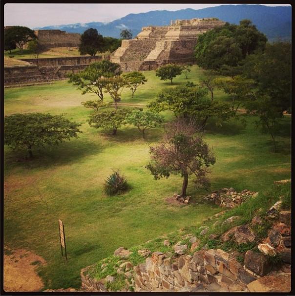 Monte Alban ruins, Oaxaca, Mexico