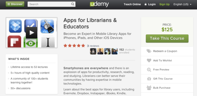 Apps for Librarians on Udemy.com