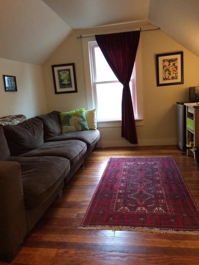 Airbnb apartment in Portland for the month of April.