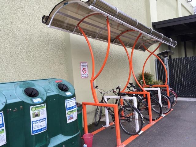 covered bike racks