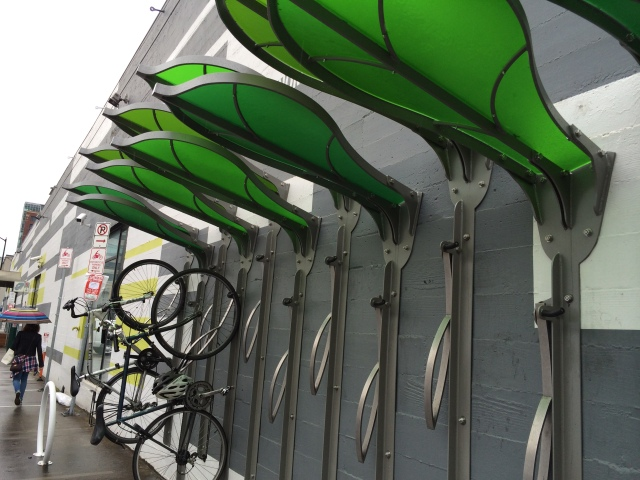 More interesting bike racks.