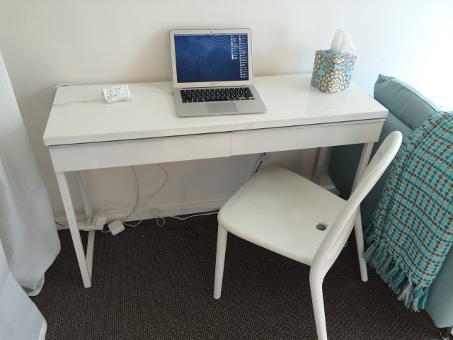 Small desk from IKEA.