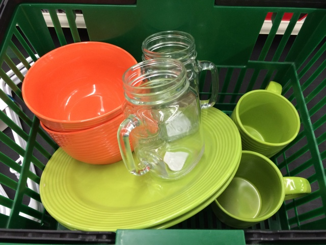 Dishes from dollar store