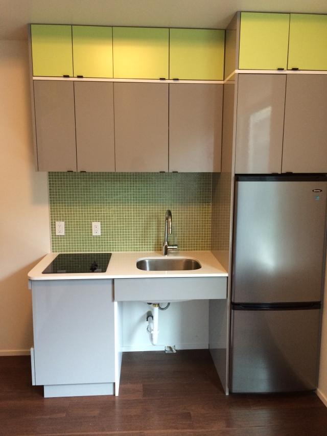 Micro-apartment kitchen