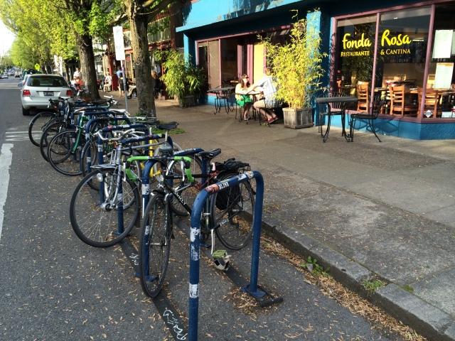 bike racks in Portland