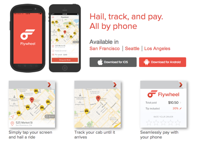 Flywheel - taxi app
