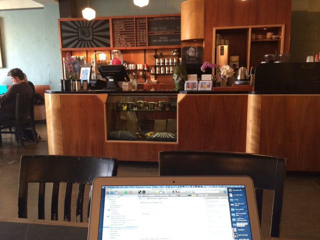 Working in a coffee shop - Victrola.