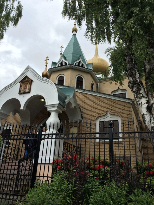 A pretty Russian church in my neighborhood.