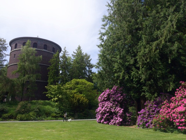 Water tower in Volunteer Park.