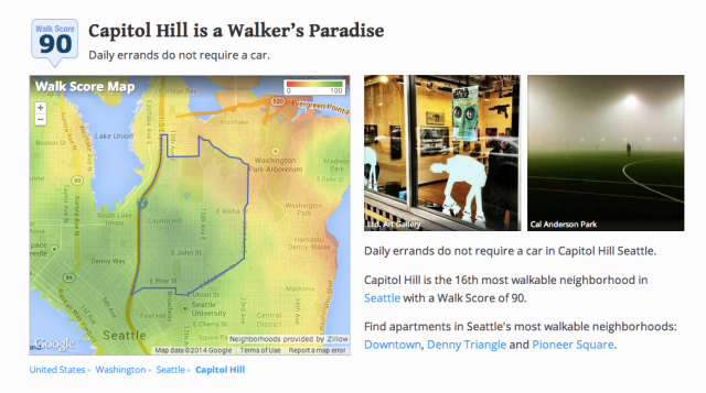 Capitol Hill is a walker's paradise.