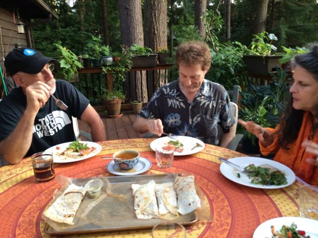 Philip, David, Francine (Seattle friends).