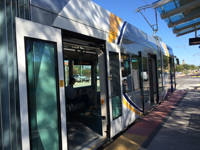 Tucson's new streetcar.