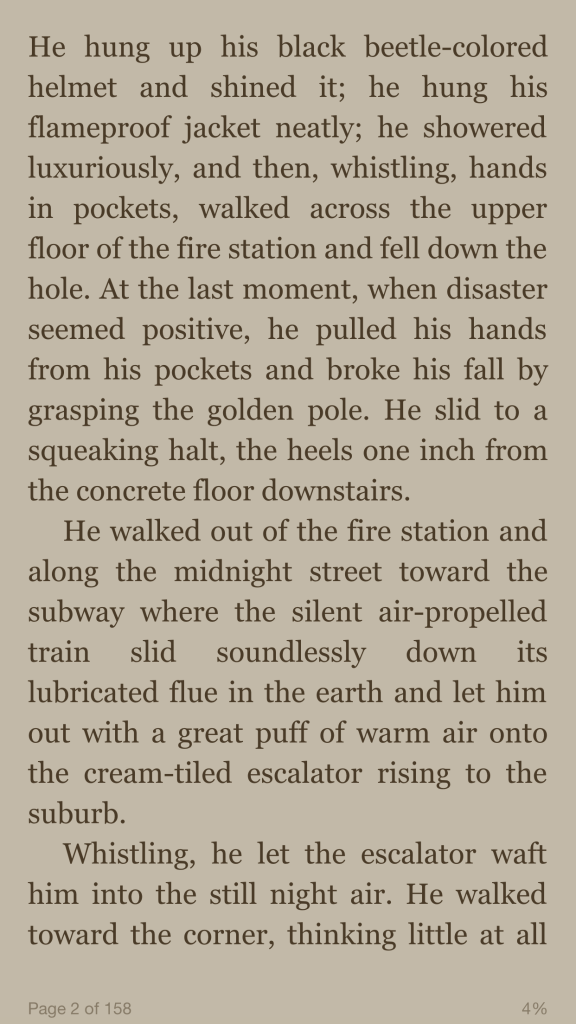sample page from a book in the Kindle app