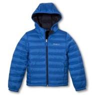 blue puff jacket