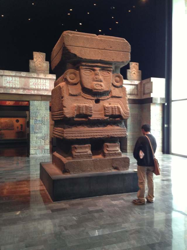 large Mayan object in the museum