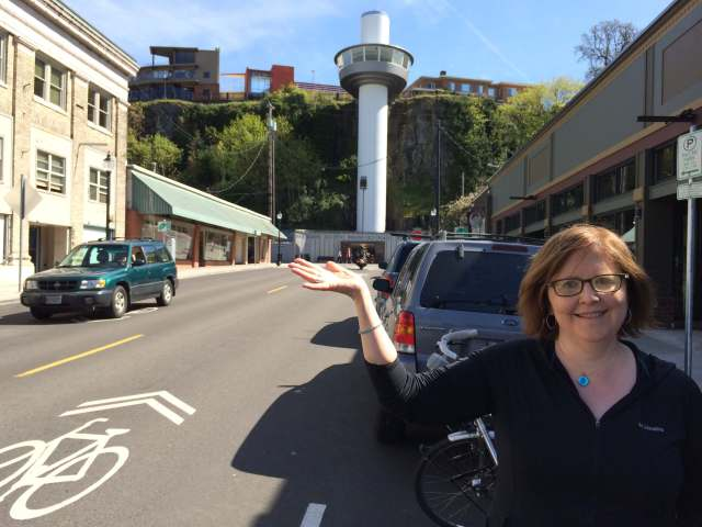 Me on the bike ride to Oregon city.