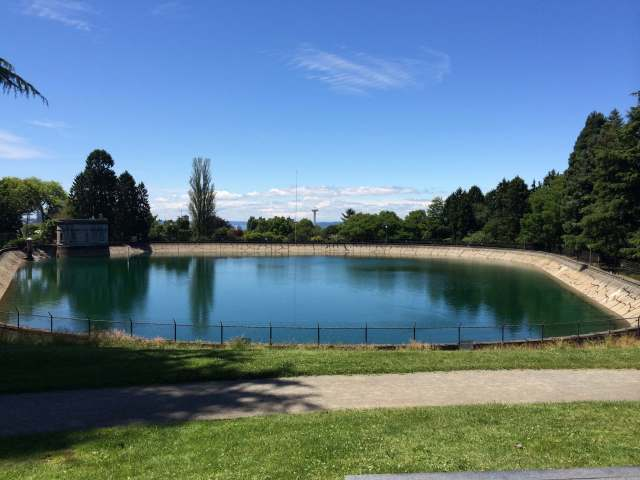 The reservoir in Volunteer Park.