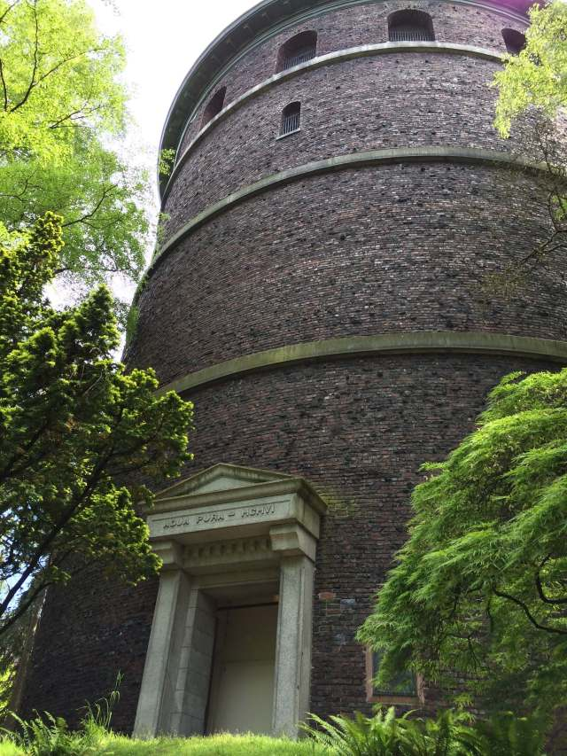 The water tower in Volunteer Park.