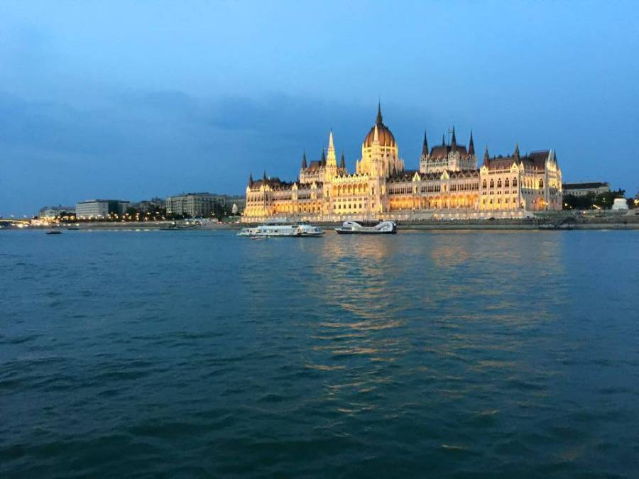 Budapest Parliament building from the Danube
