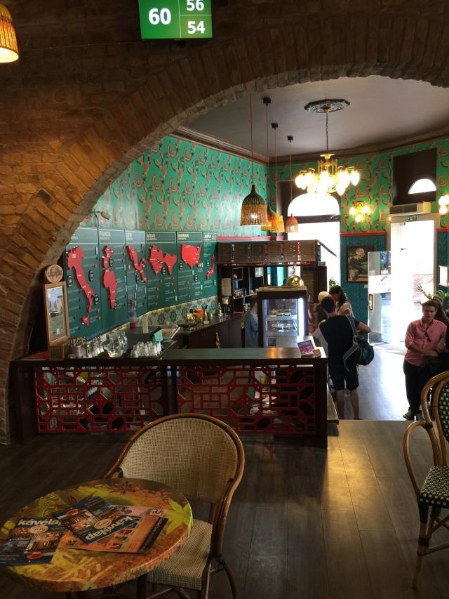 inside Cafe Frei, Budapest