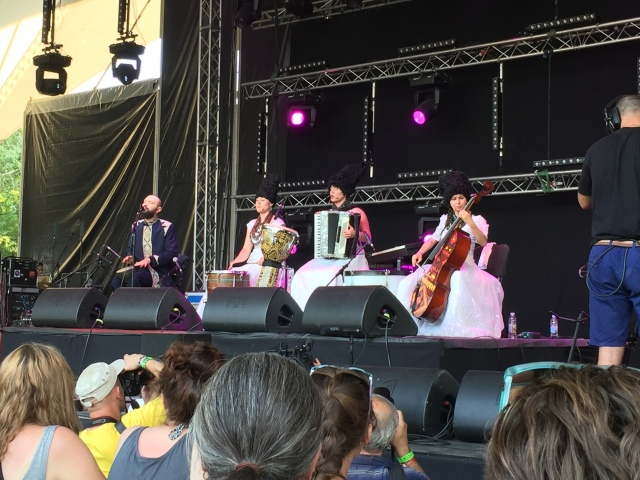 DakhaBrakha on stage at Sziget festiva