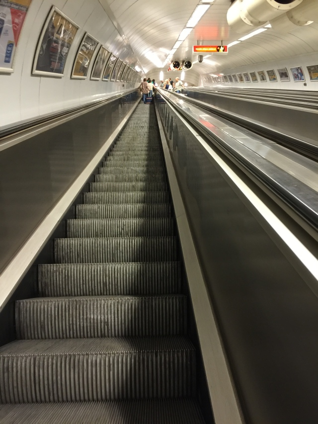 escalator from the metro