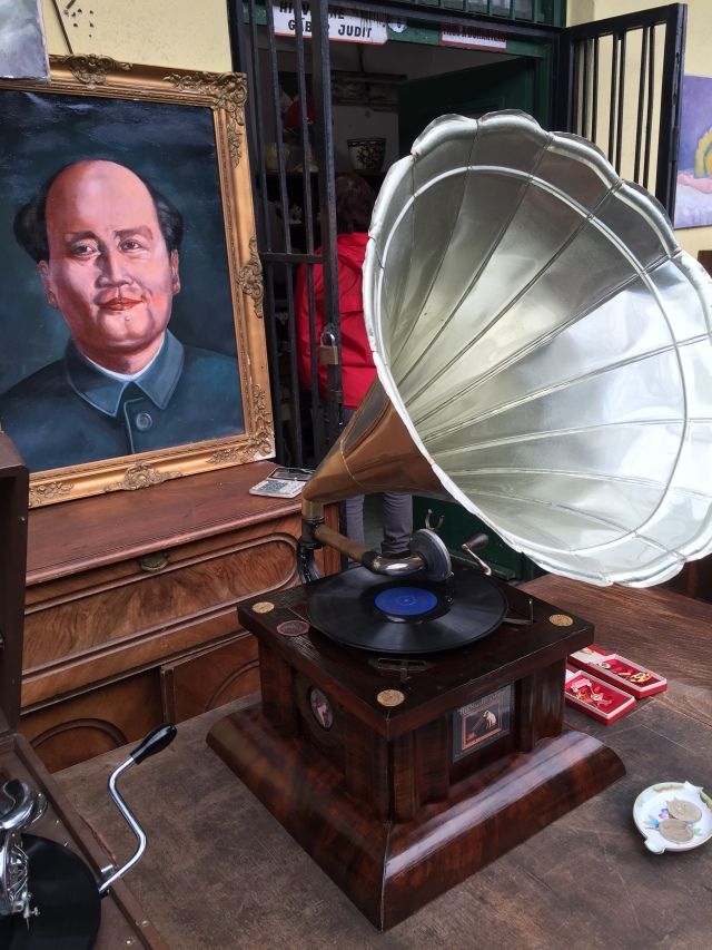 Old phonograph at the flea market.