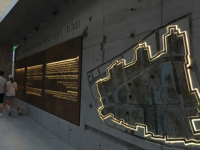 Wall display at the former Jewish Ghetto in Budapest.
