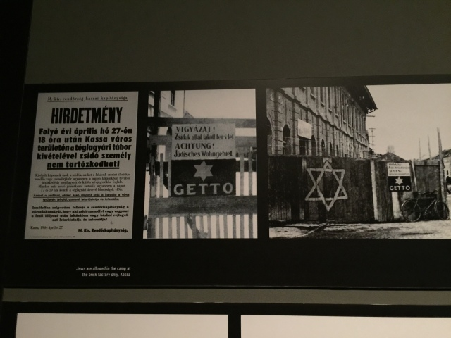 Photo displays at the Holocaust Memorial Center.