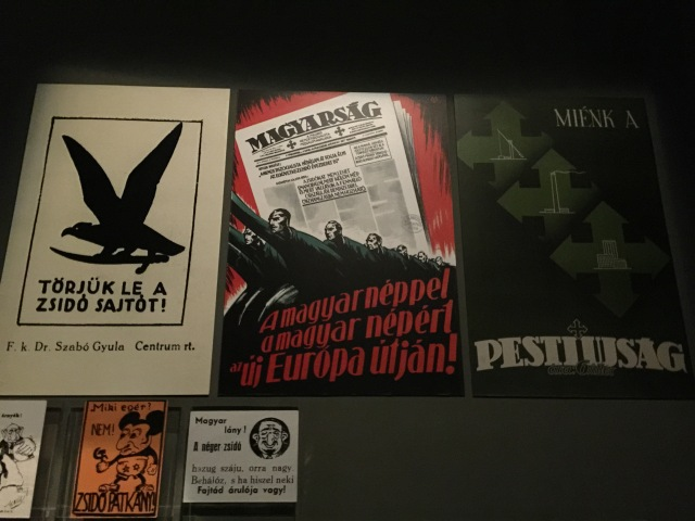 Anti-semitic posters in the Holocaust Memorial Center