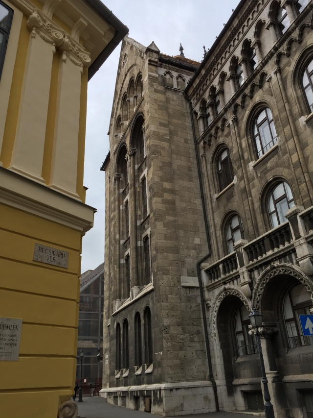 tall, old buildings in Budapest