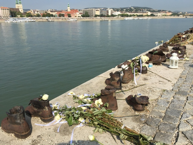 Shoe memorial by the Danube.