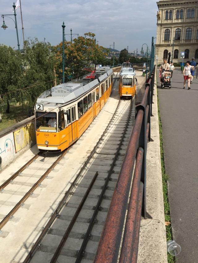 The tram in Budapest.