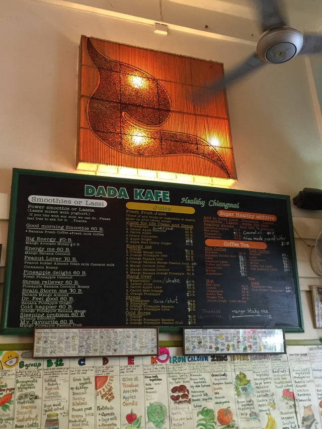Dada Kafe menu board